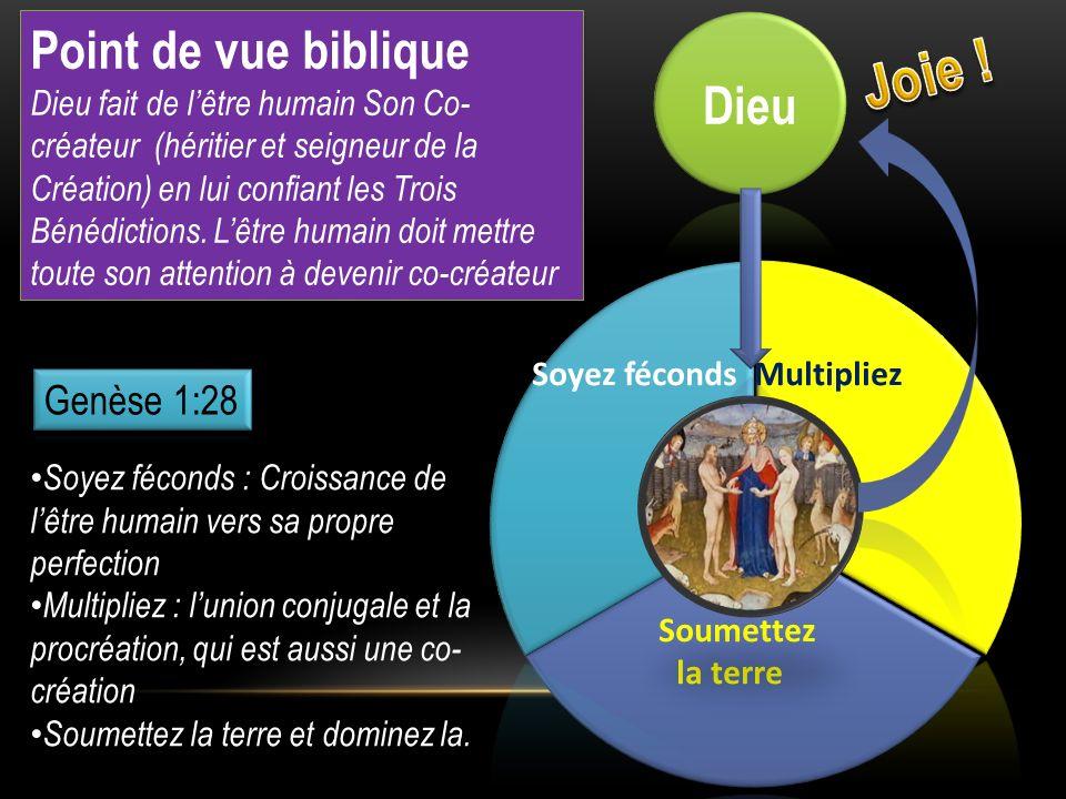 Joie ! Point de vue biblique Dieu Genèse 1:28