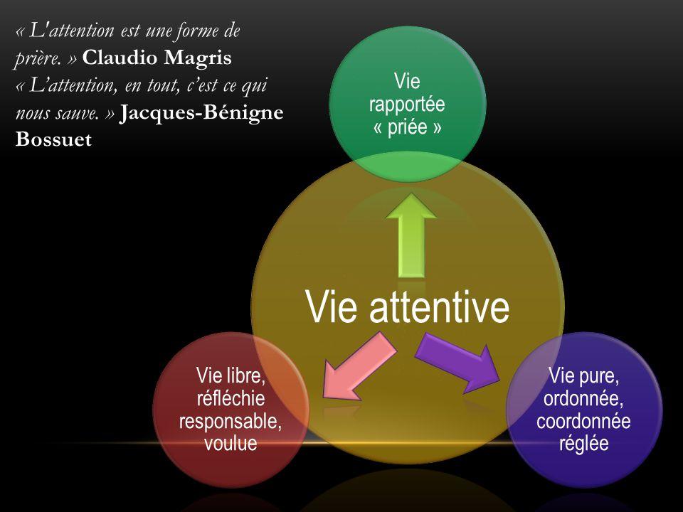 Vie attentive « L attention est une forme de prière. » Claudio Magris