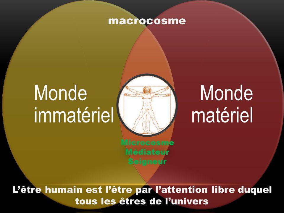 Monde immatériel Monde matériel macrocosme