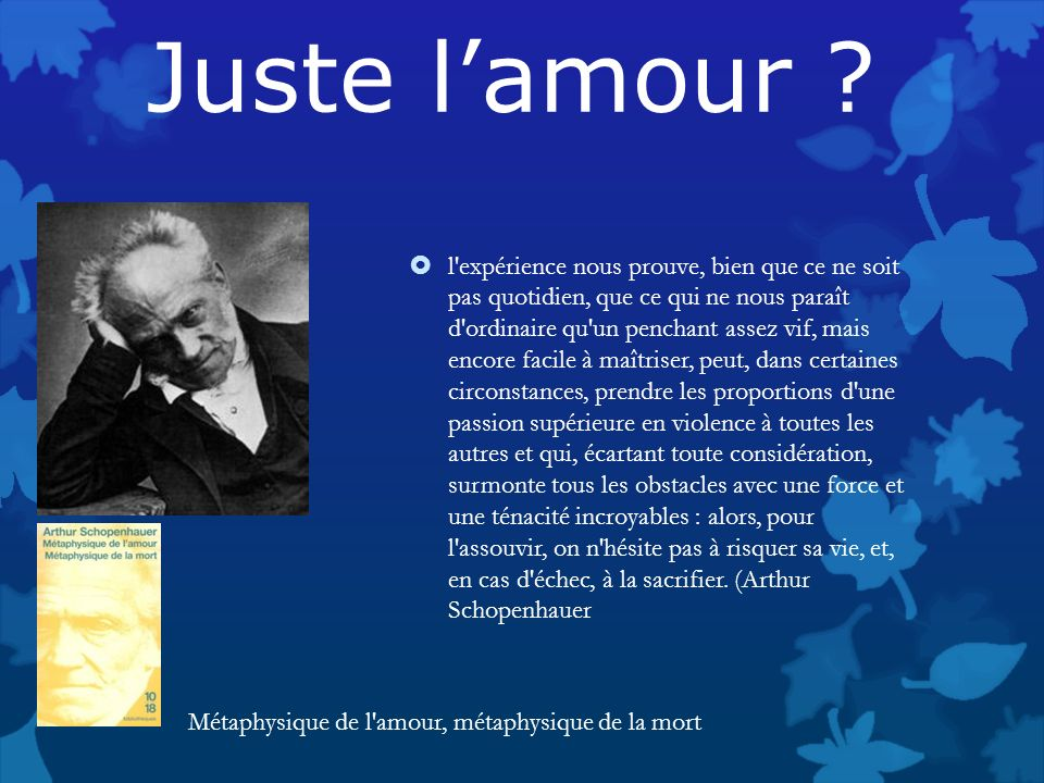 Juste l'amour