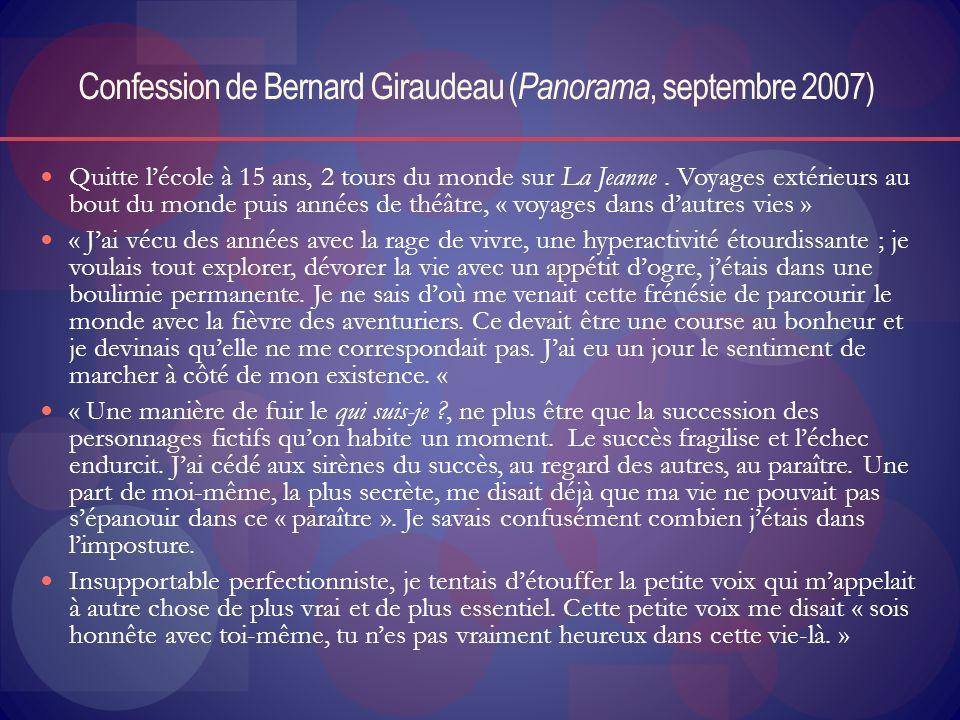 Confession de Bernard Giraudeau (Panorama, septembre 2007)