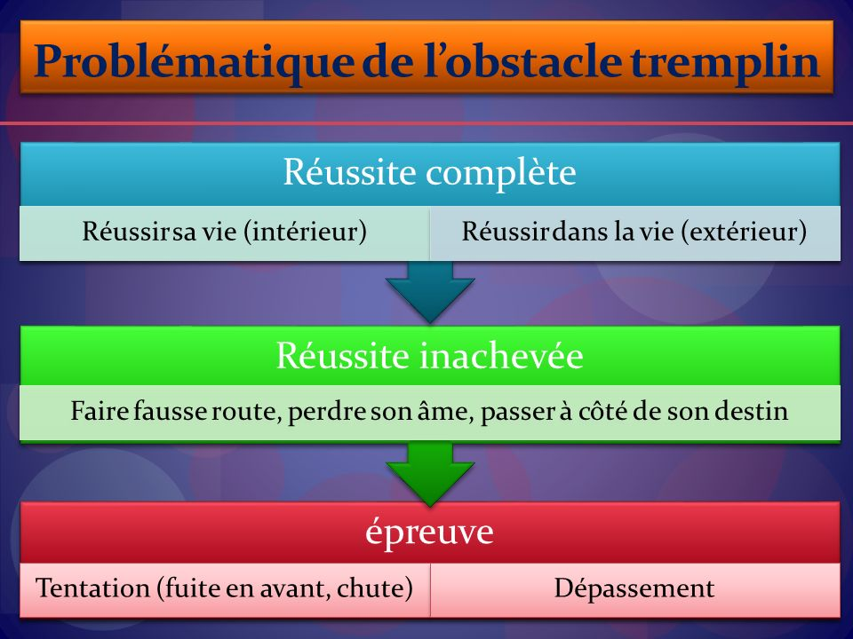 Problématique de l'obstacle tremplin