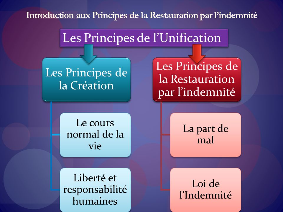 Introduction aux Principes de la Restauration par l'indemnité
