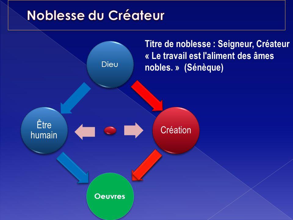 Noblesse du Créateur Titre de noblesse : Seigneur, Créateur