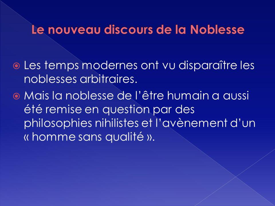 Le nouveau discours de la Noblesse