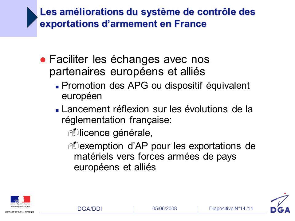 Faciliter les échanges avec nos partenaires européens et alliés