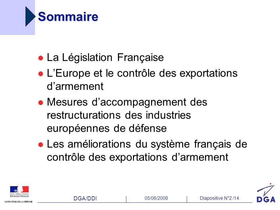 Sommaire La Législation Française