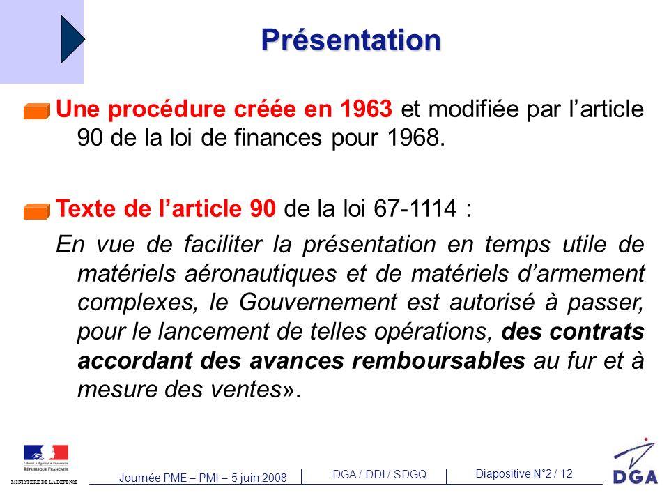 Présentation Une procédure créée en 1963 et modifiée par l'article 90 de la loi de finances pour 1968.