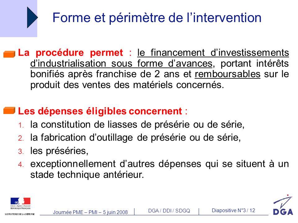Forme et périmètre de l'intervention