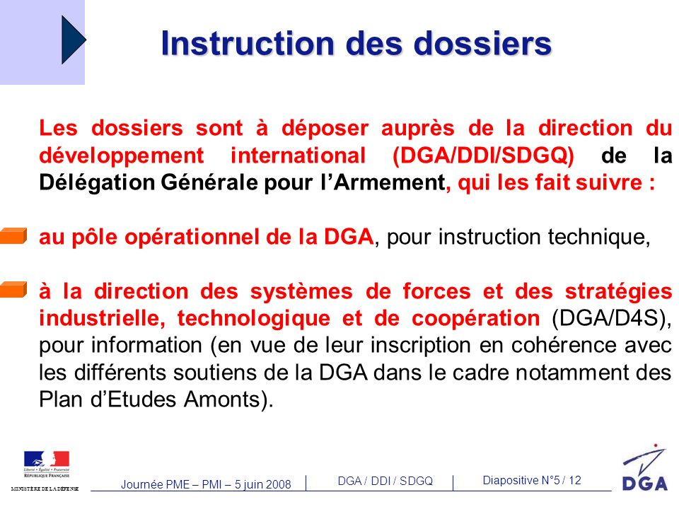 Instruction des dossiers