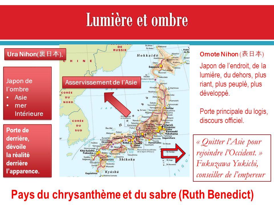 Lumière et ombre Pays du chrysanthème et du sabre (Ruth Benedict)