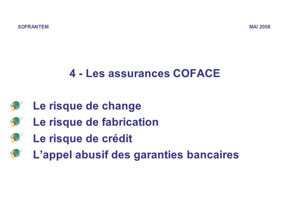 4 - Les assurances COFACE
