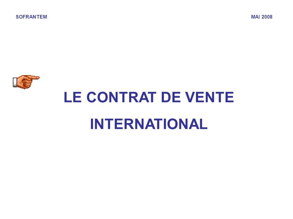LE CONTRAT DE VENTE INTERNATIONAL