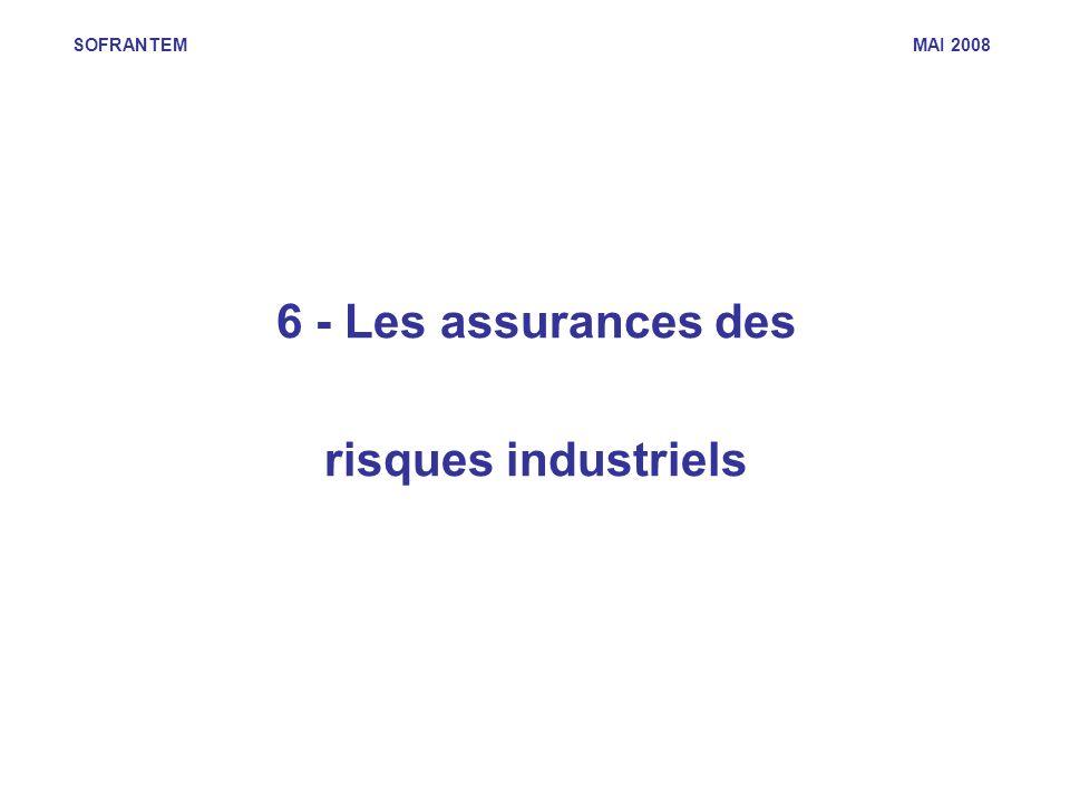 6 - Les assurances des risques industriels