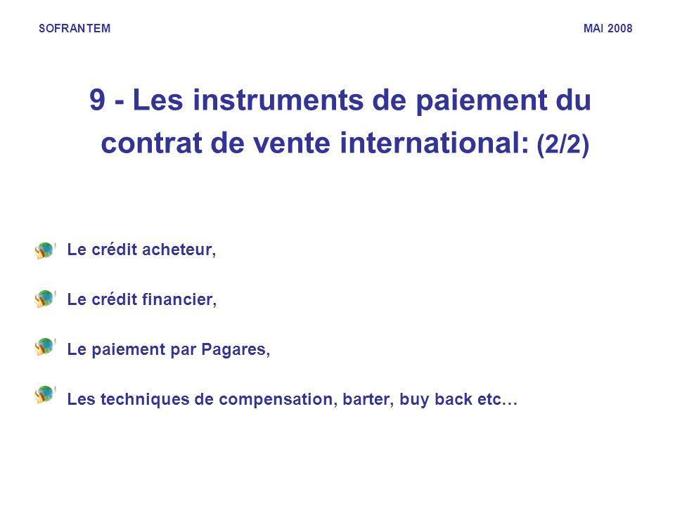 9 - Les instruments de paiement du