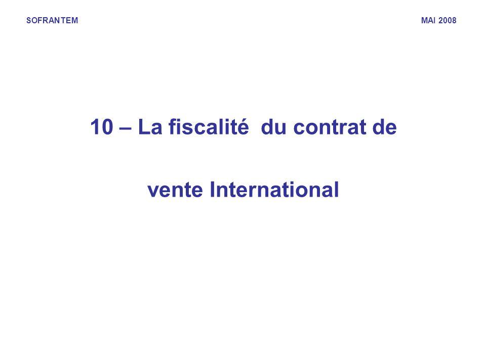 10 – La fiscalité du contrat de