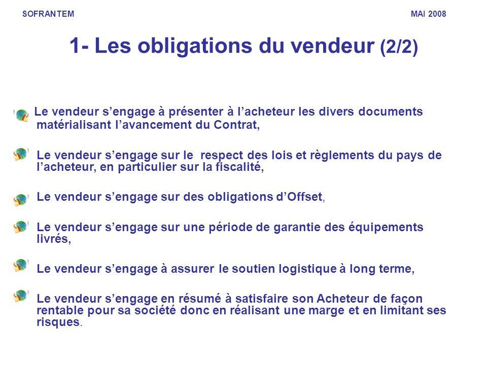 1- Les obligations du vendeur (2/2)