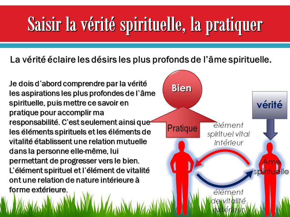 Saisir la vérité spirituelle, la pratiquer