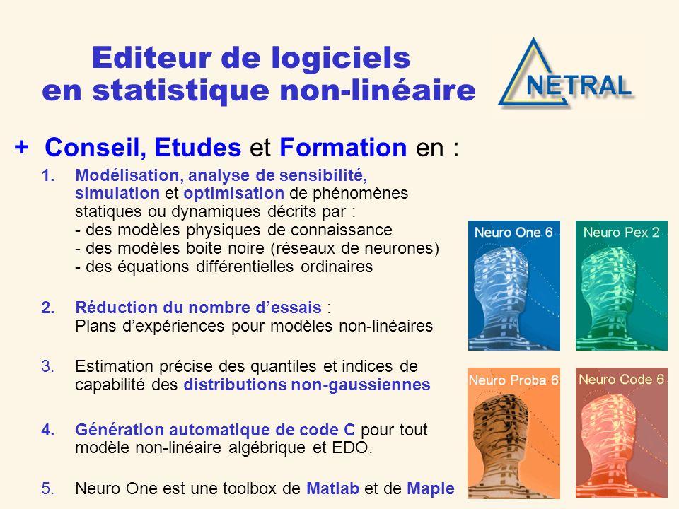 Editeur de logiciels en statistique non-linéaire