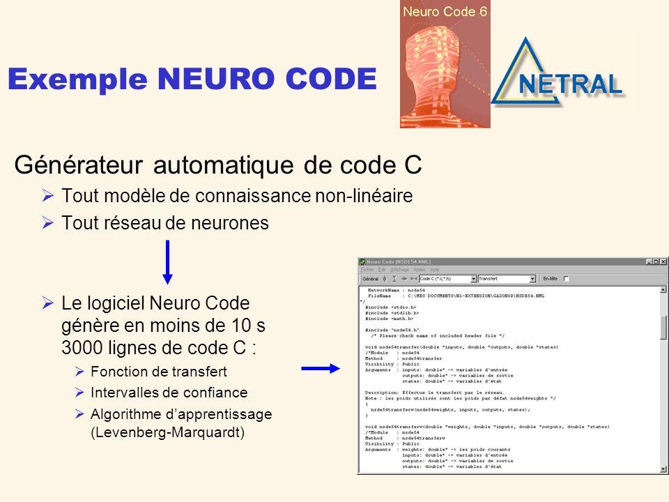 Exemple NEURO CODE Générateur automatique de code C