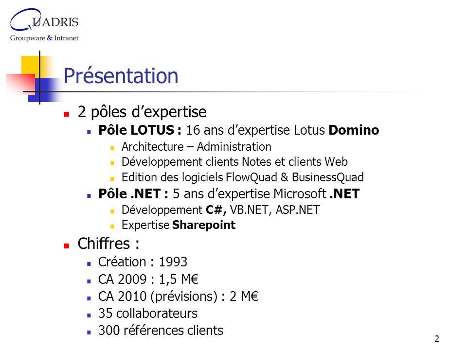 Présentation 2 pôles d'expertise Chiffres :