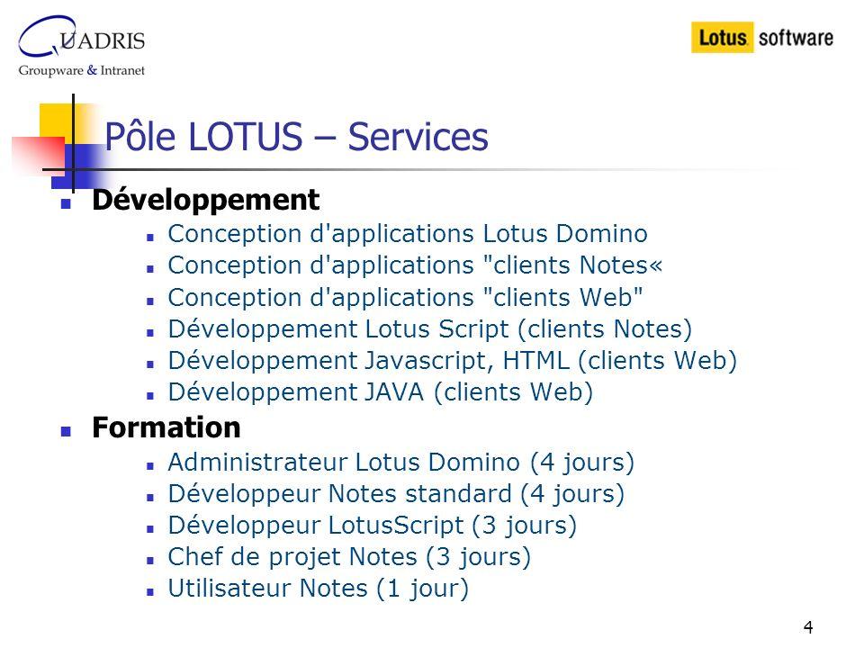 Pôle LOTUS – Services Développement Formation