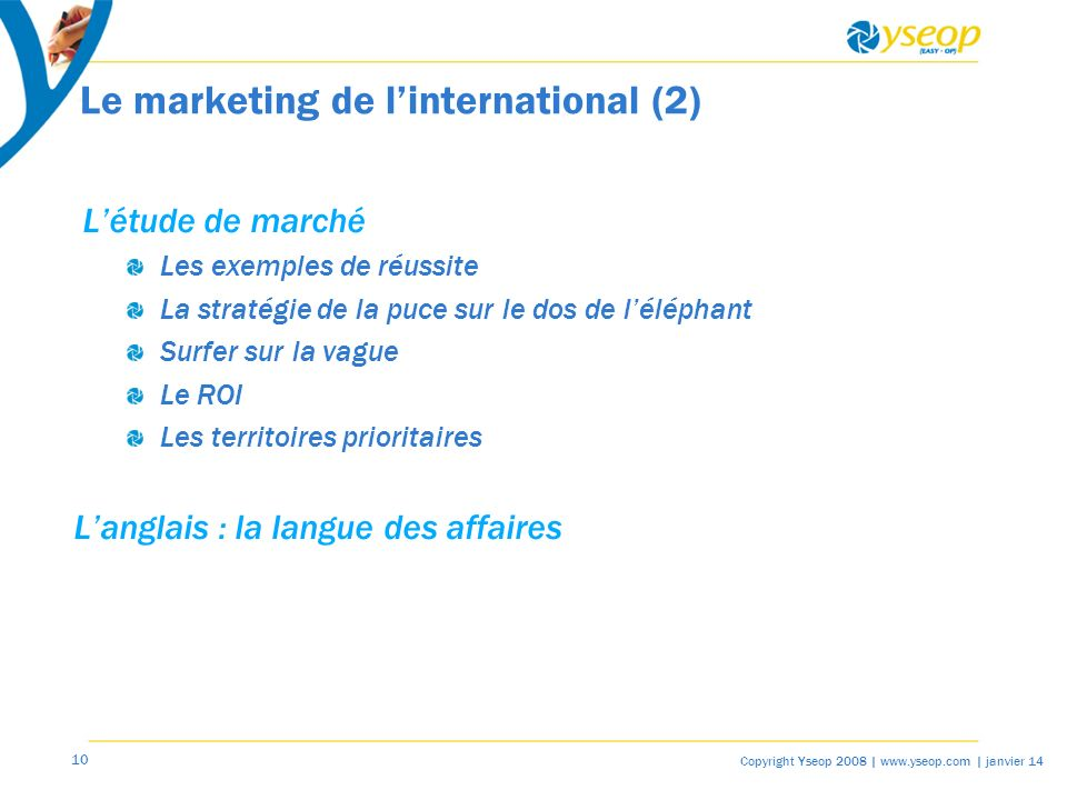 Le marketing de l'international (2)