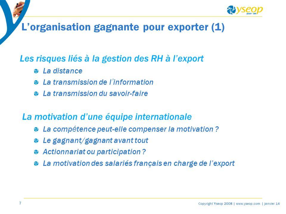 L'organisation gagnante pour exporter (1)