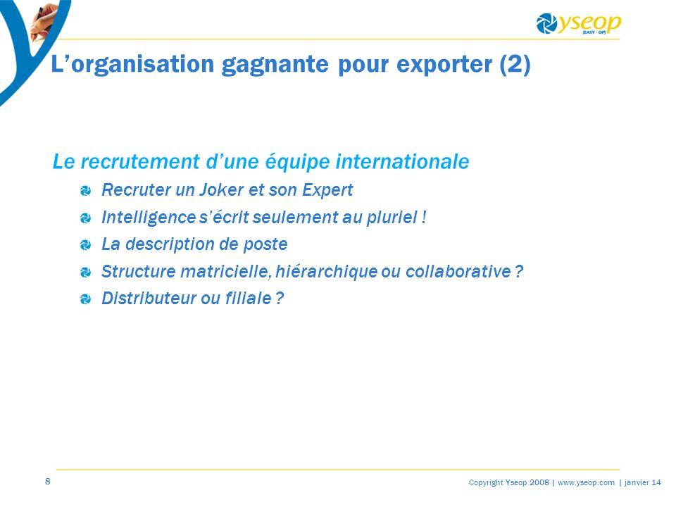 L'organisation gagnante pour exporter (2)