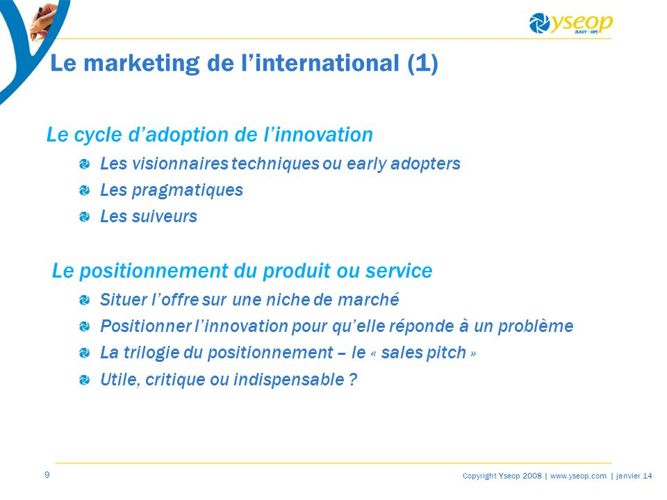 Le marketing de l'international (1)