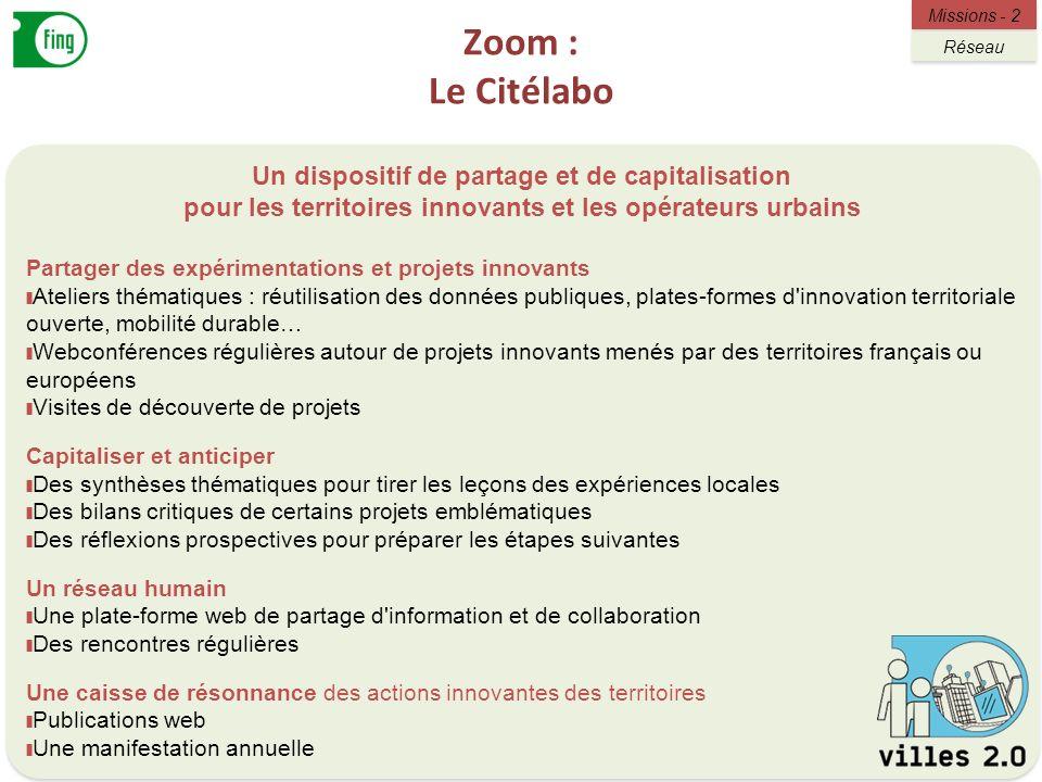 Zoom : Le Citélabo Un dispositif de partage et de capitalisation