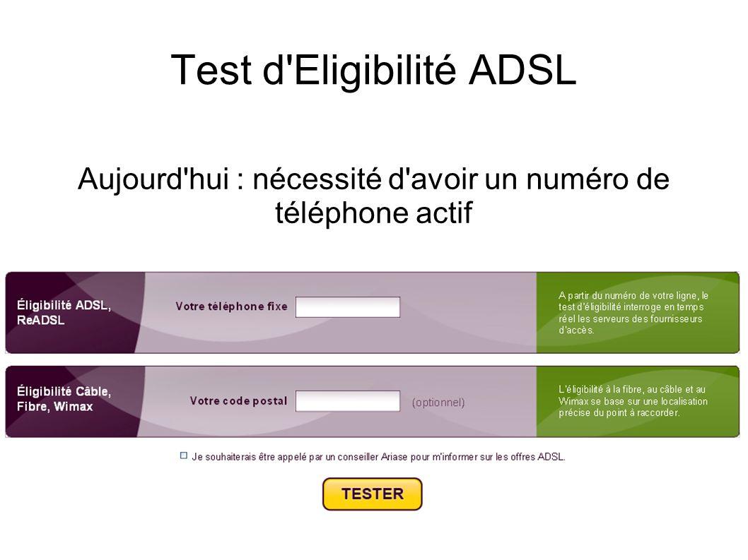 Test d Eligibilité ADSL