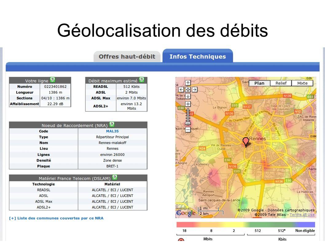 Géolocalisation des débits