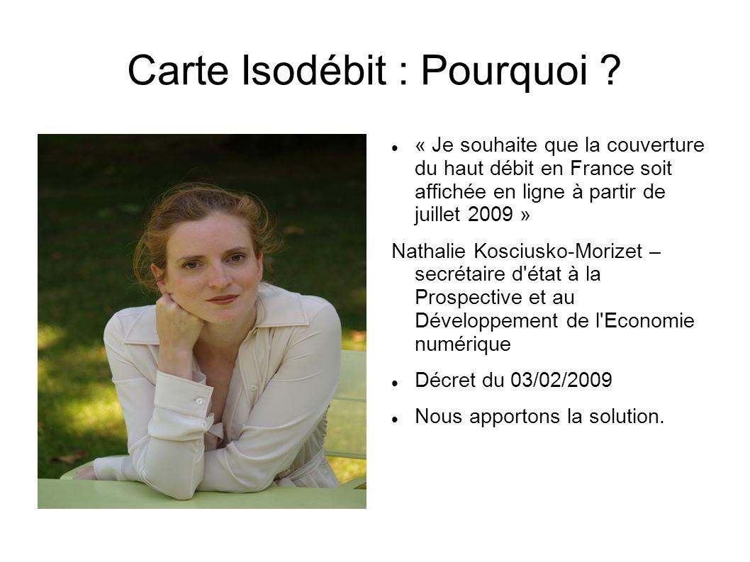 Carte Isodébit : Pourquoi