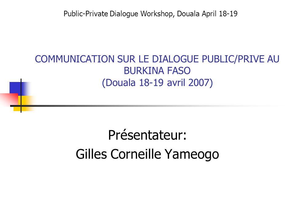 Présentateur: Gilles Corneille Yameogo