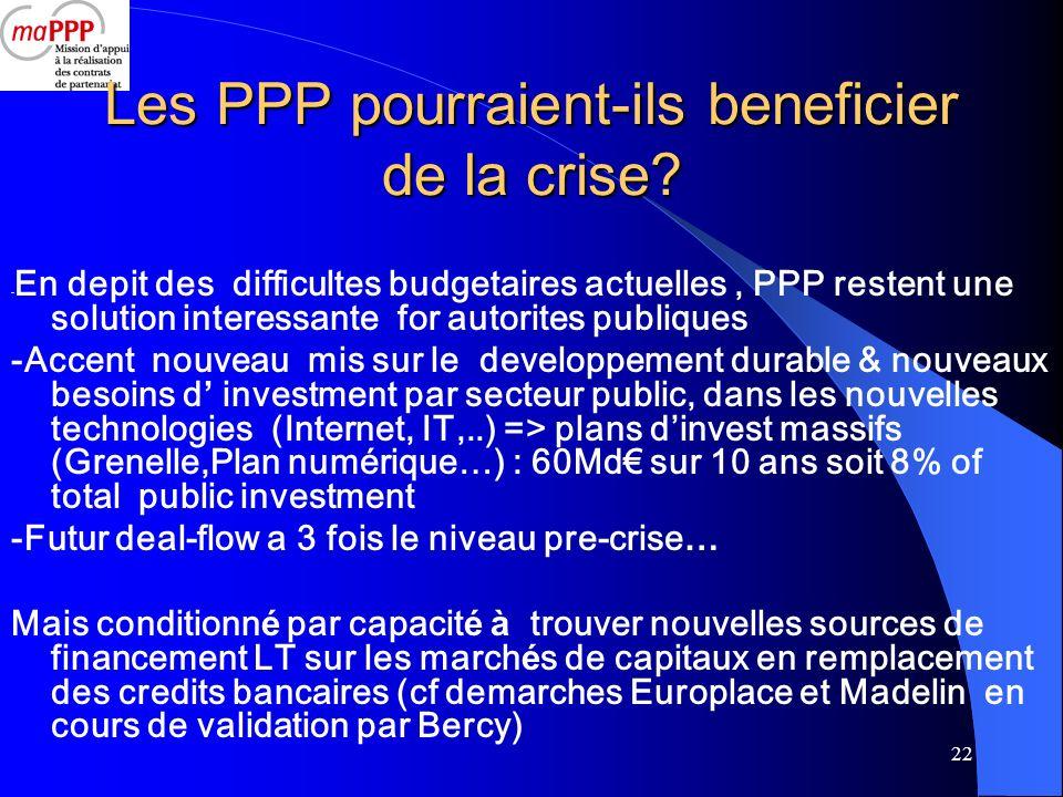Les PPP pourraient-ils beneficier de la crise