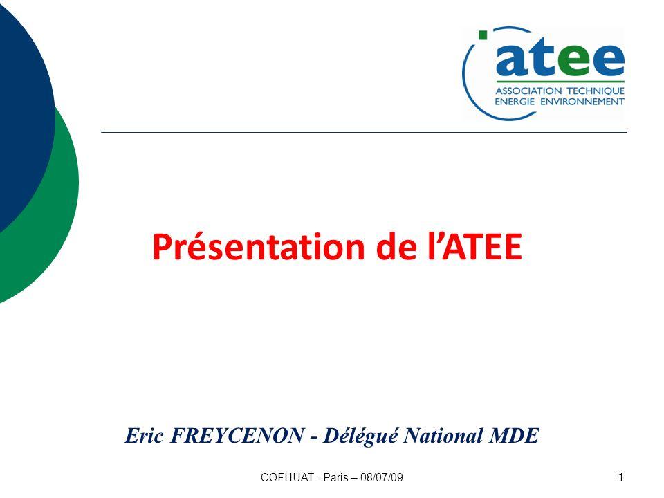Présentation de l'ATEE Eric FREYCENON - Délégué National MDE