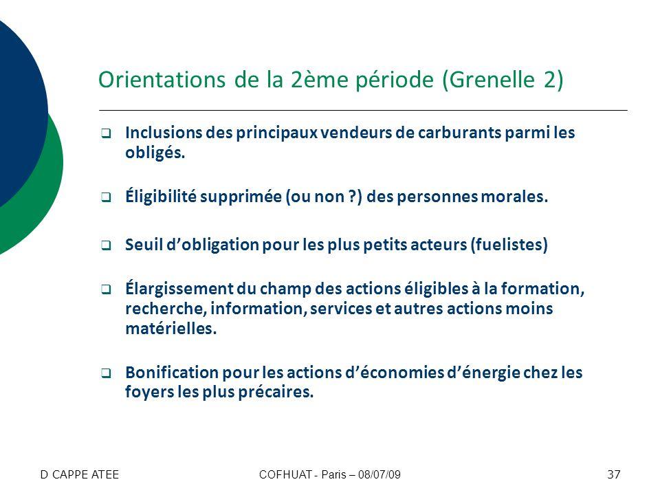 Orientations de la 2ème période (Grenelle 2)