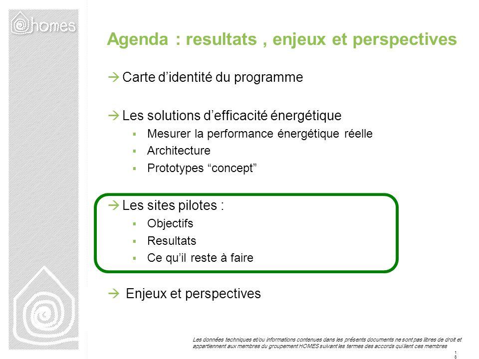 Agenda : resultats , enjeux et perspectives