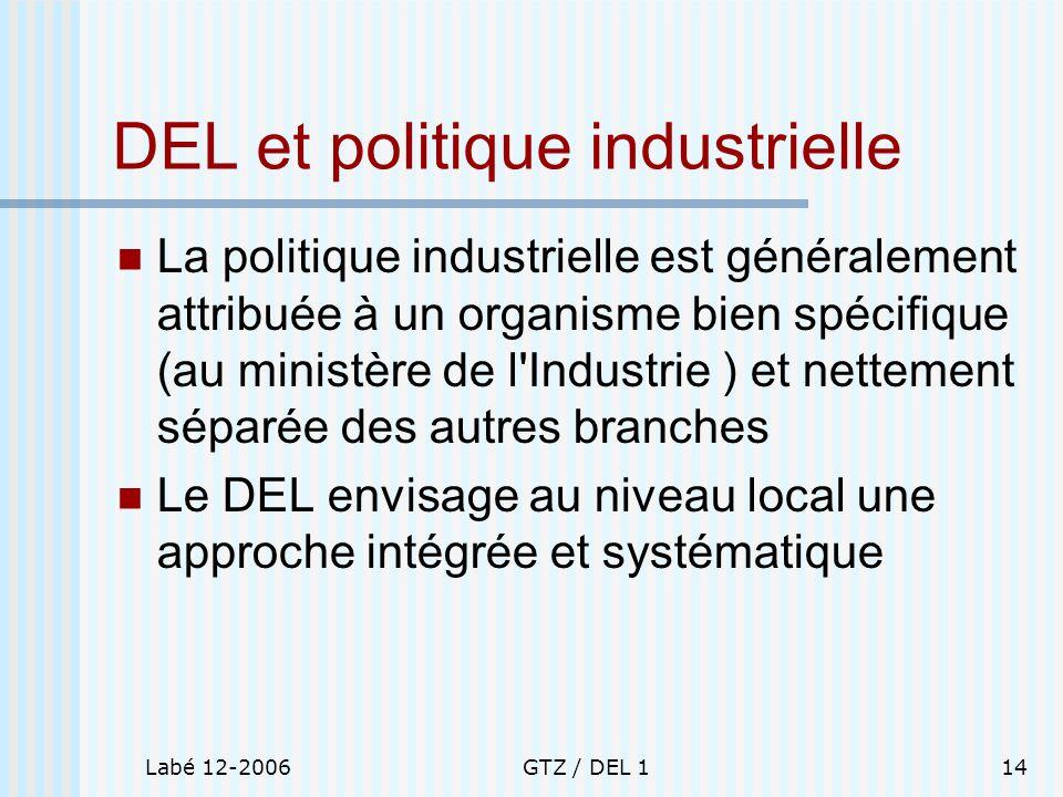 DEL et politique industrielle