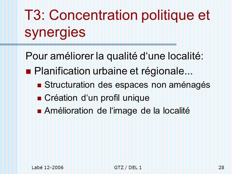 T3: Concentration politique et synergies