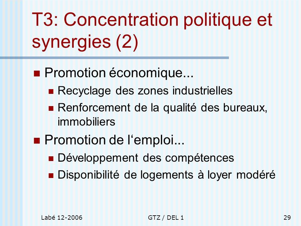 T3: Concentration politique et synergies (2)