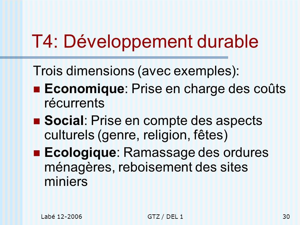 T4: Développement durable