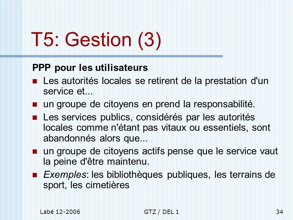 T5: Gestion (3) PPP pour les utilisateurs
