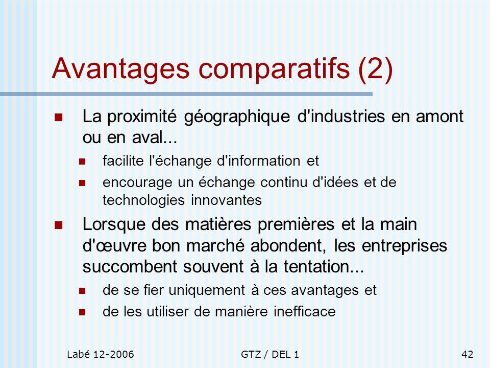 Avantages comparatifs (2)
