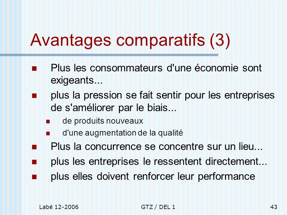 Avantages comparatifs (3)
