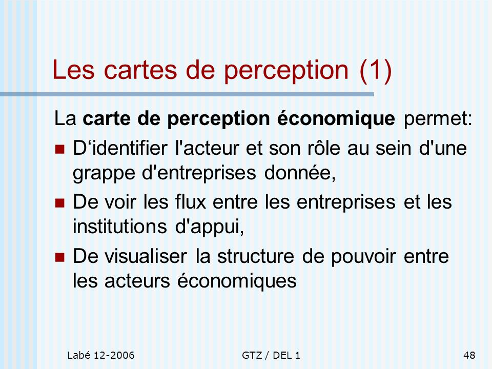 Les cartes de perception (1)