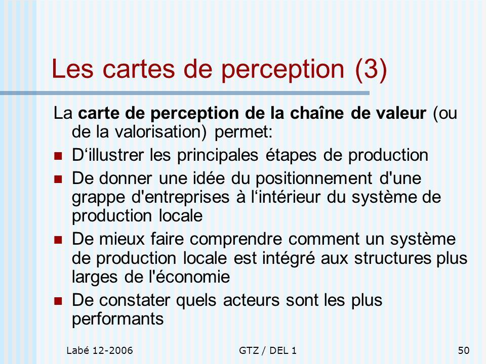 Les cartes de perception (3)
