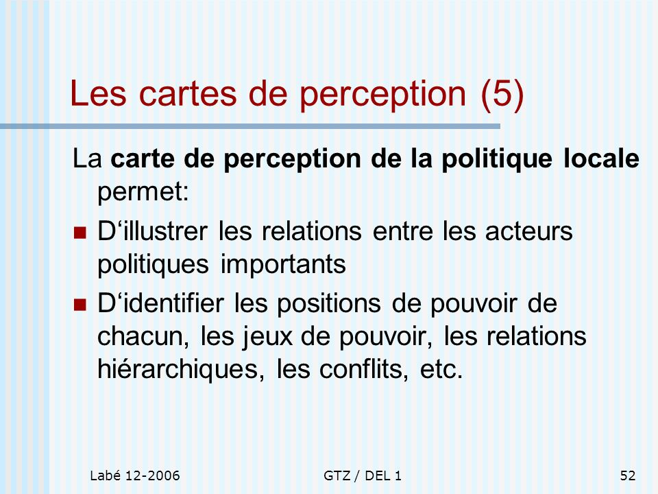 Les cartes de perception (5)