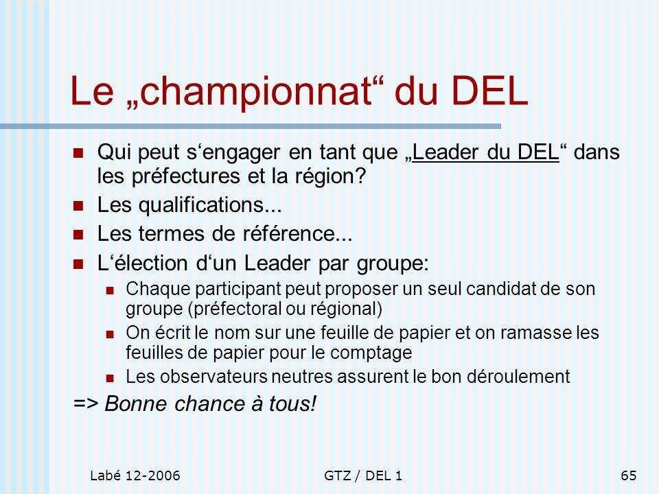 """Le """"championnat du DEL"""